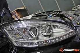 2010 mercedes s550 lights sonic ms w221 s class facelift headlight retrofit teamspeed com