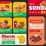 digital video menu board templates for restaurant at sign menu