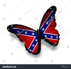 Rebel Flag Image Confederate Rebel Flag Butterfly Isolated On Stock Illustration