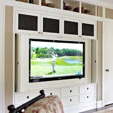 Lots Of Built In Storage With Folding Doors To Cover Tv Momma - Family room built ins