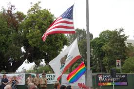 Usa Rainbow Flag Rainbow Flag Raises Awareness Newscenter Sdsu