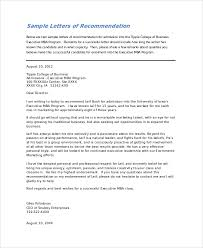 Letter Of Recommendation Template For College Admission Sle College Recommendation Letter 7 Exles In Word Pdf