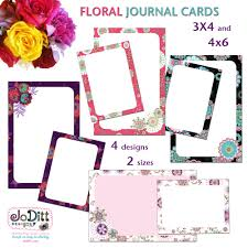 printable note cards pdf floral printable journal cards scripture memory cards