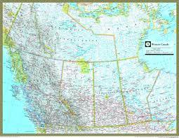 Canada Maps by Western Canada Atlas Wall Map Maps Com