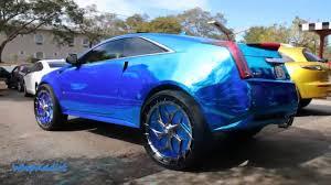 2 door cadillac cts v whipaddict chrome blue cadillac cts v coupe on 28 davin wheels