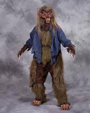 Werewolf Halloween Costume Beast Legs U0026 Feet Brown Hairy Werewolf Animal Latex