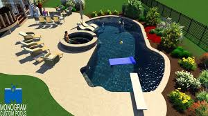 Mountain Lake Pool Design by Mountain Lake Style Pool With Sun Shelf In Lehigh County Designed