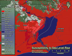 Texas Beaches Map Rising Seas Could Swamp Some Texas Cities By 2100 The Texas Observer