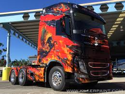 volvo big truck trucks killer paint airbrush studio