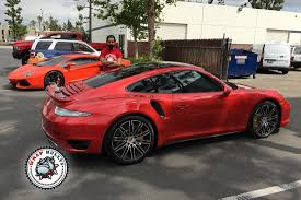 camo porsche 911 porsche 911 turbo wrapped in 3m gloss dragon red car wrap wrap