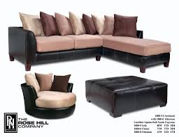 Swivel Chair And Ottoman Gambler Spades Soft Suede Espresso Sectional And Chair Set 1499