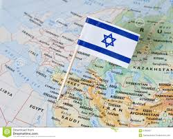 Isreal Map Israel Flag Pin On Map Stock Photo Image 67800627