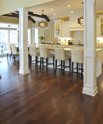 distressed hickory hardwood flooring like this floor kitchen