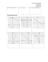 finding slope from a graph worksheet slope lesson plan