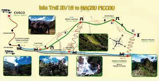 Machu Picchu Map Review 2 Days 1 Night Inca Trail To Machu Picchu The Only