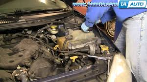 auto repair replace engine coolant radiator overflow bottle dodge