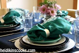 Teal Table L 48 Fiestaware Table Setting Ideas Vintage Ceramic Tablescapes I