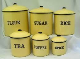 vintage style kitchen canisters enamel ware 6 canister set blue graniteware rustic vintage