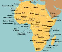 africa map all countries kevin s page of zambian memories information links