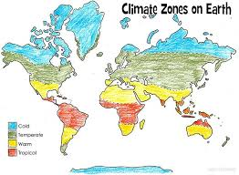 climate map coloring page climate science topics earth science and geography