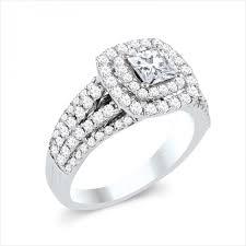 engagement rings princess cut white gold 14k white gold princess cut frame split shank engagement ring