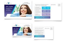 dentist postcard template design