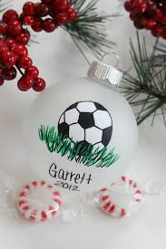 soccer sport christmas ornament personalized by babygeneration