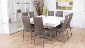 Large Dining Room Tables Seats 10 Large Square Dining Room Table For 12 Modern Sets