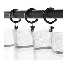 Curtain Hooks With Clips Syrlig Curtain Ring With Clip And Hook Black Ikea