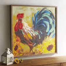 rooster framed art pier 1 imports