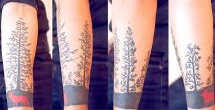 pine tree tattoos forearm