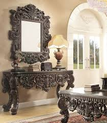 Mirror Sofa Table by Homey Design Hd 8006 Console Table With Mirror