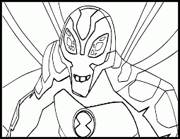 ben 10 ultimate alien big chill coloring pages coloring