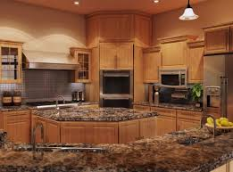 honey oak kitchen cabinets with granite countertops savae org