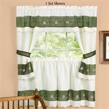 Kitchen Valances Curtains by Kitchen Curtains Tiers And Valance Window Treatments Touch Of Class