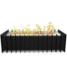 elite flame 18 inch ventless bio ethanol fireplace grate burner