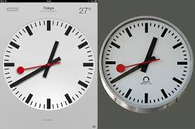 apple accused of plagiarizing iconic swiss clock design the verge