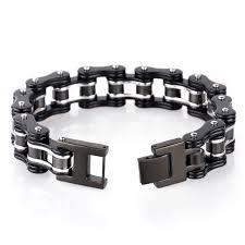 stainless steel chain bracelet images Trustylan 16mm wide black stainless steel biker motorcycle chain jpg
