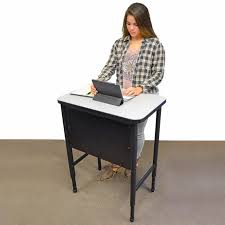 all apex series single student stand up desk by marco group