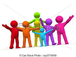 stock illustration of family friends a of happy families