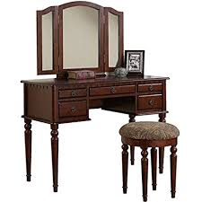 make up dressers vanity set with mirror and stool vintage antique