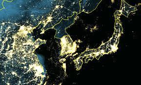 pictures of night lights north korea goes dark nat geo education blog