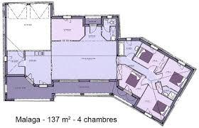 plan de maison en v plain pied 4 chambres maison plain pied en l avec garage