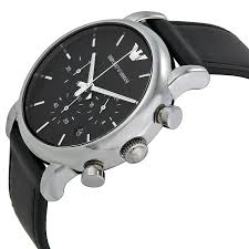 20 Classic Black And White Emporio Armani Classic Black Leather Mens Watch Ar1733 Nz Watch