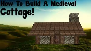 minecraft tutorial how to build a medieval small cottage youtube