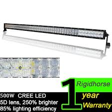 Cheapest Led Light Bars by Amazon Com Rigidhorse 500w 50000lm 52 Inch 5d Led Light Bar