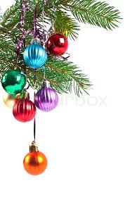 new year decoration christmas and new year decorations fir tree branch with decoration