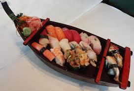hana japanese cuisine fuji hana sushi boat of sashimi spatialdrift