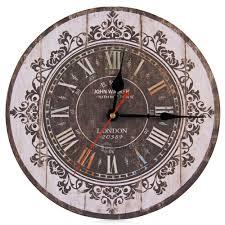 aliexpress com buy sale wall clock silent retro wooden
