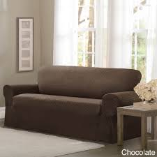 Ebay Sofa Slipcovers one piece sofa cabersurefit one piece stretch slipcover how to